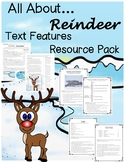 Reindeer Nonfiction Text Features Passage Questions and Activity Sheets