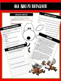 Christmas Reindeer Nonfiction Text, Questions, Writing, an