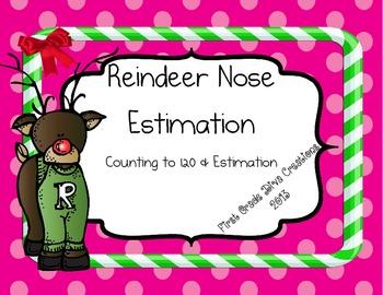 Reindeer Nose Estimation- Printables to Build Number Sense
