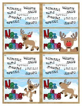 Reindeer Noses Candy Bag Toppers - FRENCH