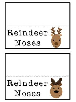 Reindeer Noses - Gift Tags