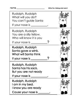 Reindeer Noses Rhyme