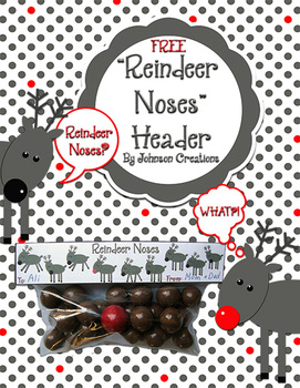 Reindeer Noses Snack Bag Header