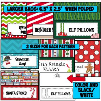 Christmas Bag Toppers