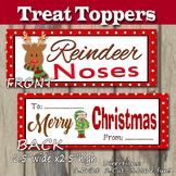 Reindeer Noses Treat Topper Christmas DIY Printable- Snack Baggie Size