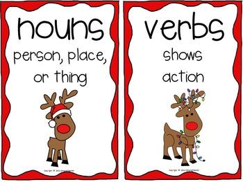 Reindeer Noun and Verb Sort