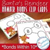 Reindeer Number Bonds Task Cards Center