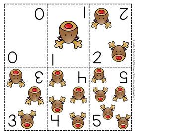 Reindeer Number Cards 0-20