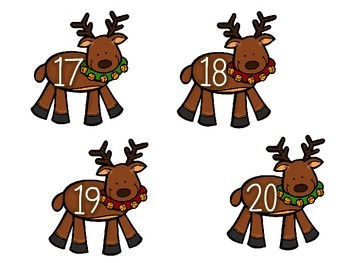 Reindeer  Number Order1-20