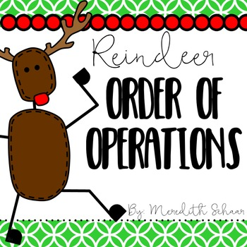 Reindeer Order of Operations