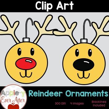 Reindeer Ornament Clipart