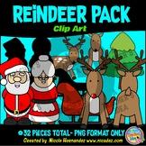 Reindeer Pack Clip Art for Teachers