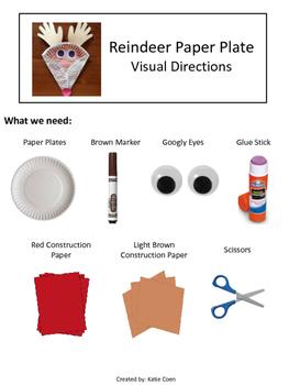 Reindeer Paper Plate - Visual Directions - Art Project  sc 1 st  Teachers Pay Teachers & Reindeer Paper Plate - Visual Directions - Art Project by Katie Coen
