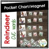 Reindeer Pocket Chart- CVC words
