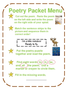 Reindeer - Poetry packet