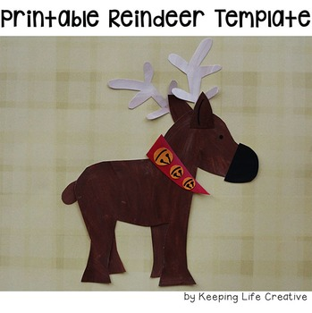 Reindeer Printable Craftivity Template