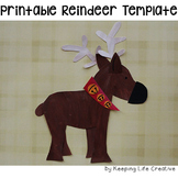 Reindeer Printable Craftivity Template