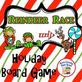 Reindeer Race Christmas Holiday Board Game