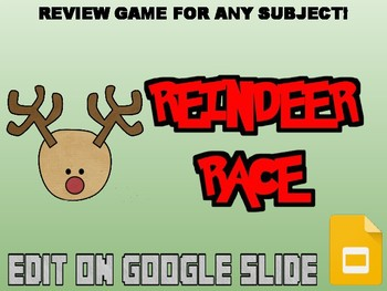 Reindeer Race Review Game (Google Slides)