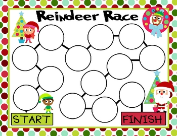 Reindeer Race Subtraction Game