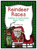 Reindeer Races - Addition & Subtraction Basic Facts