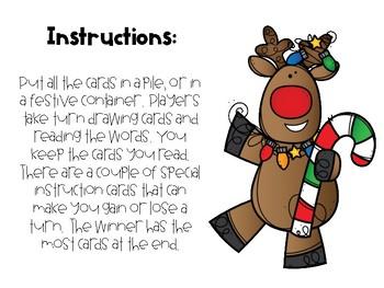 Reindeer Reading {CVC Word Game}