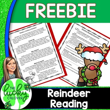 FREE Reindeer Reading Skills: Informational and Fiction
