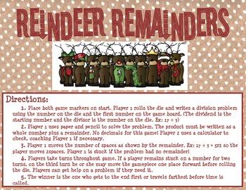 Reindeer Remainders: A Division Game