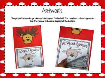 Reindeer Research Writing & Art Activity