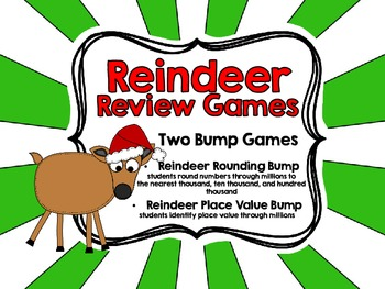 Reindeer Review Games for Fourth Grade