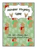 Reindeer Rhyming Cards