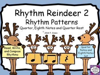 Rhythm Reindeer 2 {Quarter Rest Rhythm Pattern Fun}