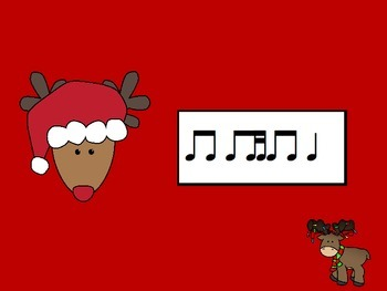 Reindeer Rhythms with Eighth Note and Two Sixteenth Notes