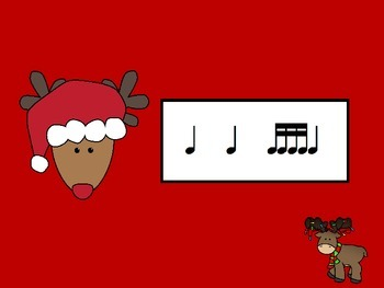 Reindeer Rhythms with Sixteenth Notes