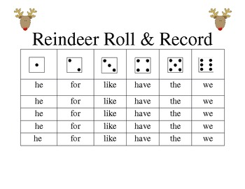 Reindeer Roll and Record