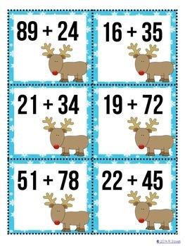 Winter Estimation Matching Game: a December math center activity