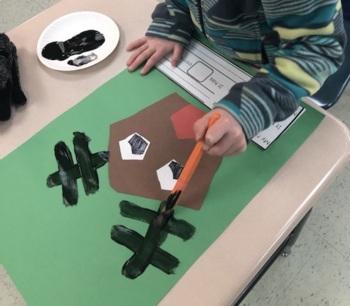 Reindeer Roundup - A Math Reader (shapes)