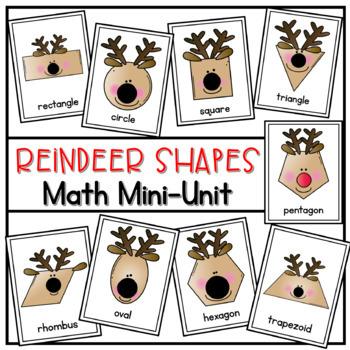 Reindeer Roundup - A Math Reader (2D shapes)