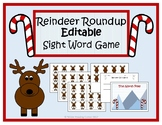 Reindeer Roundup Editable Sight Word Game- December Litera