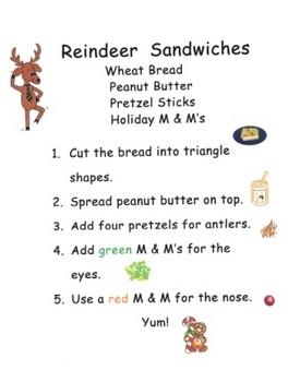 Reindeer Sandwich Snack Recipe