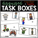 Reindeer + Santa Disguise Task Boxes | Task Boxes for Spec
