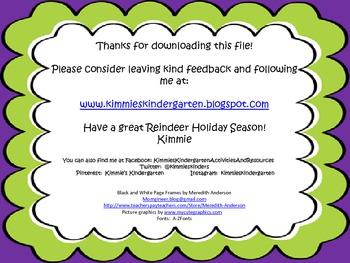 Reindeer Science Freebie - I Can Statement