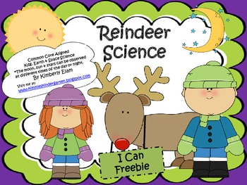 Reindeer Science Freebie - I Can Statement