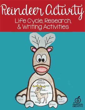 Reindeer Craft: Science,Language Arts,Editable Writing Prompts