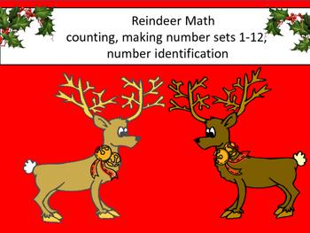 Reindeer Sets File Folder Game