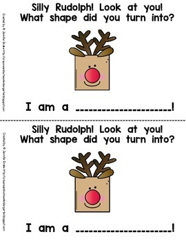Reindeer Shape Book, Cards, Puzzles and Printables!