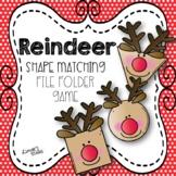 Reindeer Shape Matching File Folder Game