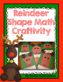 Reindeer Shape Math Craftivity