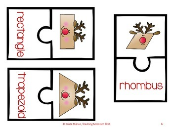 Reindeer Shape Puzzles--Join the Reindeer Games!