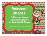 Reindeer Shapes Interactive Notebook Shutter Fold